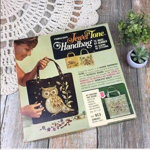 Vintage 1965 Jeweltone Handbag DIY Sunburst Purse
